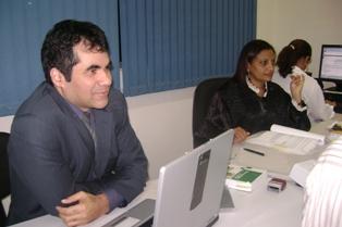 Promotor Lindonjonson e a Juíza Rosa Maria.