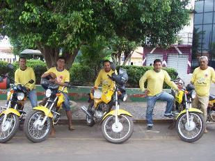 Mototaxistas de Presidente Dutra.