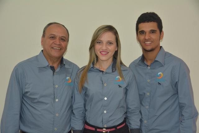 Dalvino Barbosa, Stephanie Pacheco e Lucas de Carvalho Reis.