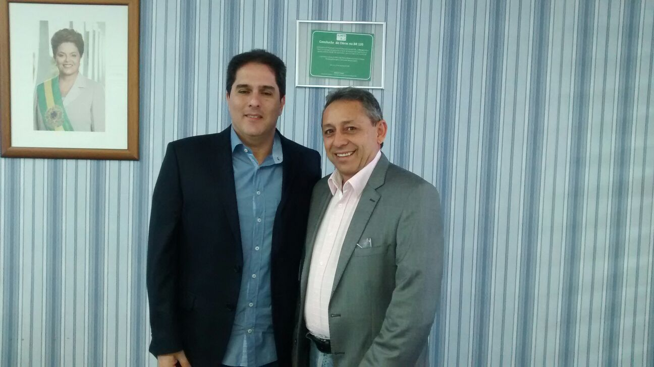 Maurício Itapary, Superintendente do DENIT e Juran Carvalho, Prefeito de Presidente Dutra.