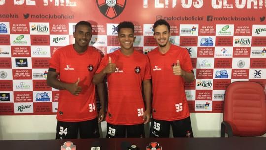 Lorran, Vinícius Paquetá e Marcos Paullo devem iniciar o jogo como titular(Foto: Jéssica Melo / TV Mirante)