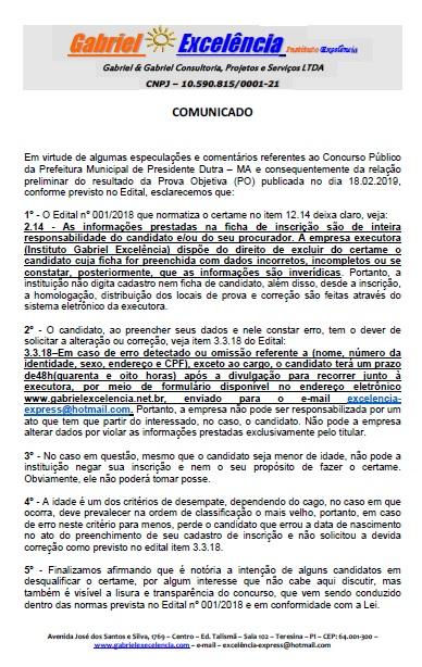 67f781371 COMUNICADO IMPORTANTE GABRIEL EXCELÊNCIA