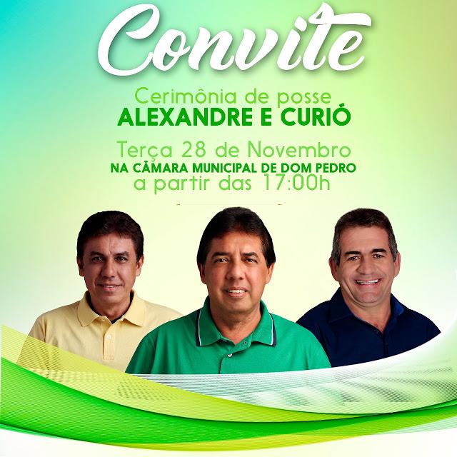 20 - Alexandre Costa toma posse no cargo de prefeito em Dom Pedro nesta terça-feira - minuto barra